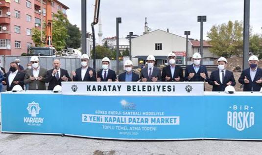 Karatay'a GES projeli yeni kapalı pazar market