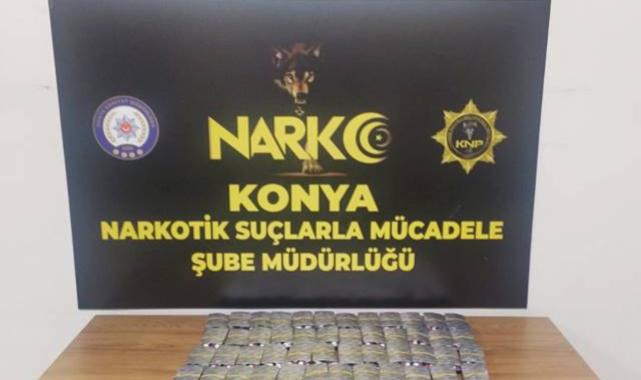 Konya'da zehir tacirlerine darbe: 2703 adet hap ele geçirildi