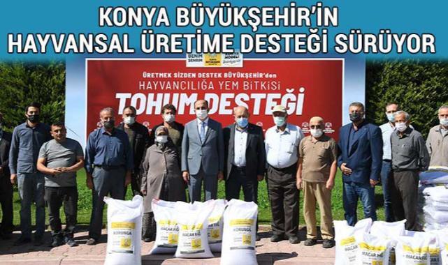 Konyalı üreticilere tohum desteği