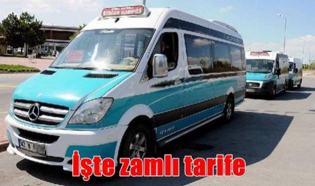 Konya'da minibüs ücretlerinde artışa gidildi